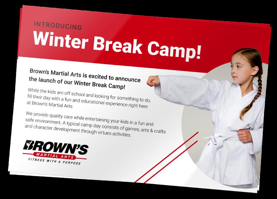 Winter Break Camp Flyer